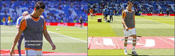 - 16/05/14 : Cristiano était au dernier entraînement du Real avant d'affronter l'Espanyol pour le dernier match de Liga  C.Ancelloti a annoncé que Cristiano avait bien repris les entraînement et qu'il était prêt pour ce dernier match. Diffusion le 17/05 à 15H55 sur BeinSport 2  -