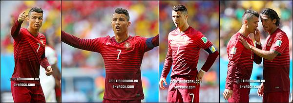 - 26/06/14 : Cristiano et le Portugal sont éliminés du mondial 2014 malgré leur victoire 2-1 face au Ghana  Les Black Stars s'imposent 2-1 face au Ghana, le jeudi 26 juin à Brasilia, grâce à un but du Ballon d'Or 2013,  qui a aussi été élu l'homme de ce match -
