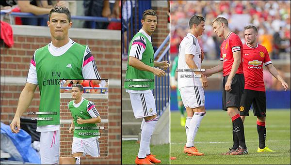 - 02/08/14 : Le Real perd encore: 3-1 face à Manchester United mais Cristiano a pu rejouer au cours de ce match A quinze minutes de la fin, Cristiano est rentré sur la terrain, acclamé par les fans, mais n'a pu changé la donne et le Real s'incline tout de même  -