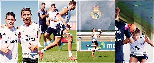 - 04/08/14 : Cristiano est de retour à Madrid où il reprend les entraînements et a pu rencontrer James Rodriguez Fraîchement revenu des Etats-Unis, Cristiano a échangé quelques mots avec la nouvelle recrue merengue : James Rodriguez -