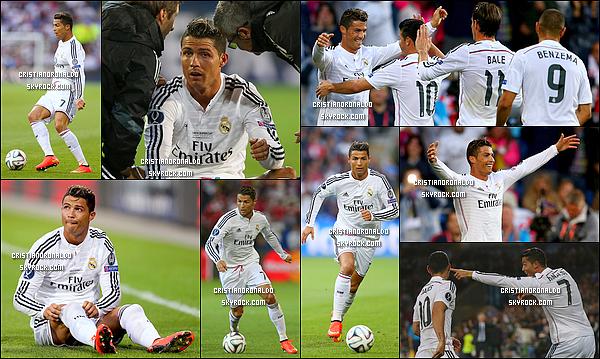 -  12/08/14 : Le doublé de Cristiano permet au Real Madrid de remporter la Supercoupe d'Europe face à Séville Sacré homme du match, Cristiano a brillé en inscrivant un doublé. Le Real Madrid sera meilleur cette saison, c'est en tout cas leur promesse   -