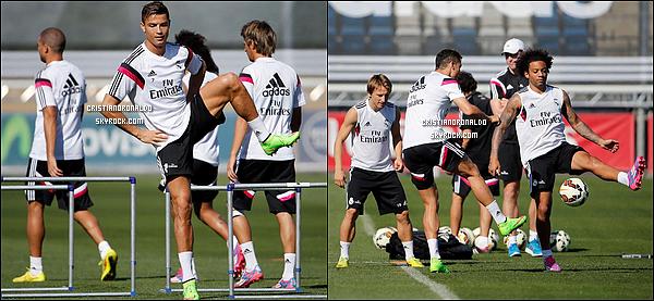 - 10/09/14 : Cristiano enchaîne les entraînements avec le reste du groupe et pourrait être titulaire pour le derby  Après ses douleurs au genou, Cristiano est de retour et pas de moindre puisqu'il sera surement sur le terrain samedi pour affronter l'Atlético -