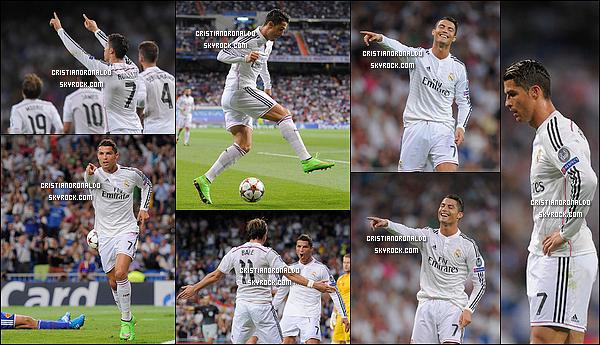 - 16/09/14 : Festival de buts pour le Real Madrid face au FC Bâle où les madrilènes s'imposent 5-1 à domicile  Cristiano a marqué ainsi son 68e but en LDC et s'est encore rapproché du record de Raul (71), meilleur buteur de l'histoire de la compétition. -