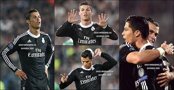 - 01/10/14 : Victoire à Sofia face à Ludogorets et Cristiano a ainsi marqué pour sa 7ème rencontre consécutive En signant sa deuxième victoire consécutive en Ligue des Champions, le Real occupe la première place en phase de groupes à 3 points de Liverpool -