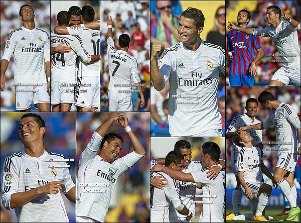 - 18/10/14 : Large et nette victoire de la part du Real Madrid, en démonstration sur la pelouse de Levante 5-0 Auteur d'un doublé, Cristiano bat un record vieux de 71 saisons en marquant 15 buts en 8 journées. Chicharito, James et Isco ont gonflé le score  -