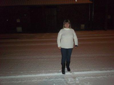 il neige a alloua gne le 03 fevrier moi dans la neige