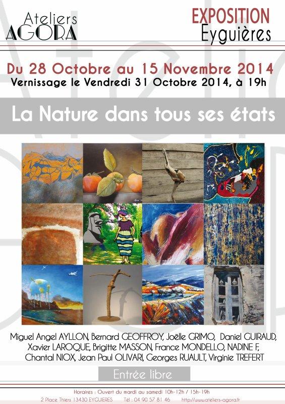 """Affiche de l'Exposition """"La nature dans tous ses états"""" à l'Agora d'Eyguières"""