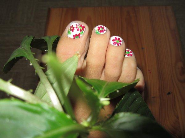 Petit nail art de printemps
