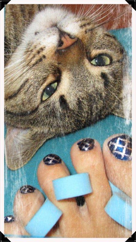 Nail art sur papates^^