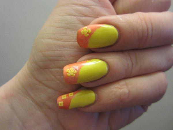 Chaleur + soleil = Nail art chaud et coloré
