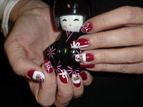 Nail art Noël 2013
