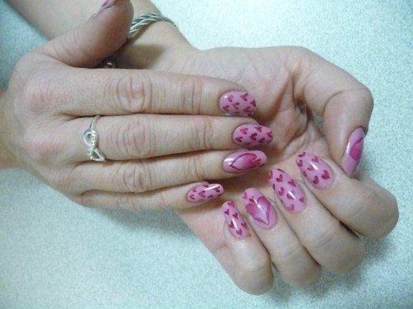 Nail art Saint Valentin 2014