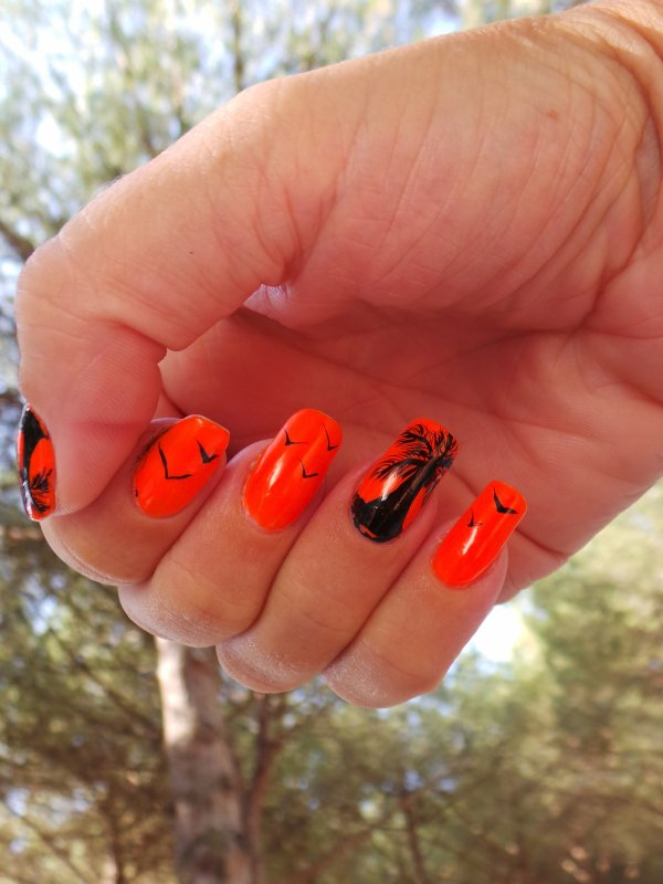 Nail art palmiers
