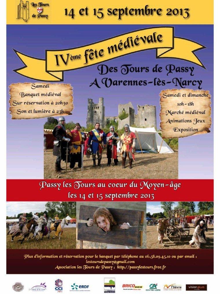 La 4ème Fête médiévale des Tours de Passy les 14 et 15 septembre 2013!