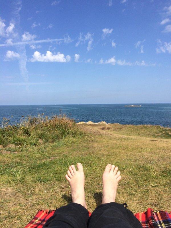 Baie de Morlaix - 22 degrés - petite brise marine