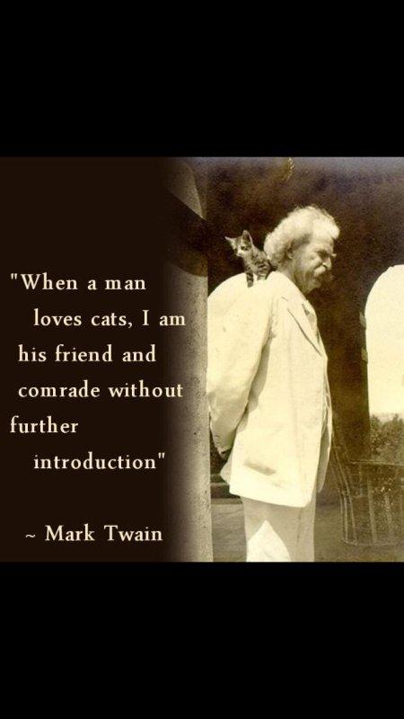 Mark Twain et les chats!