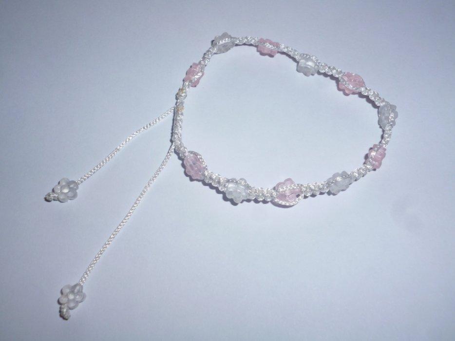 Bracelet macramé fleurs