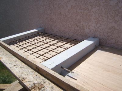 coffrage du plan de travail construire son barbecue. Black Bedroom Furniture Sets. Home Design Ideas