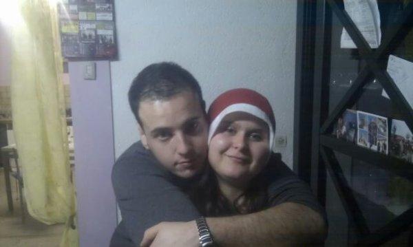 Moi et Mon Homme le jour de noël Je Taime Mon Amour