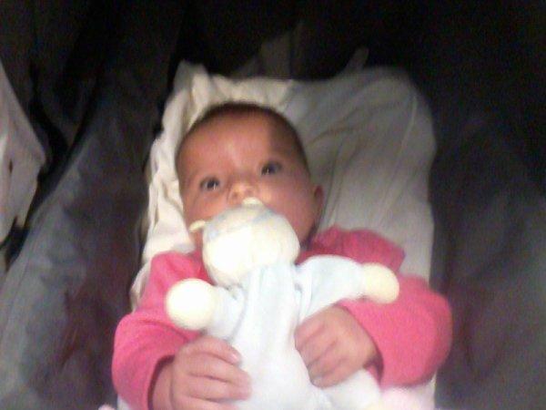 ma fille et son doudou