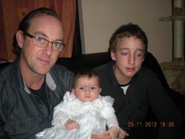 ma fille avec thierry et son fils