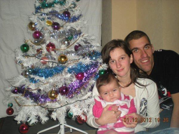 ma petite famille et le sapin de noel