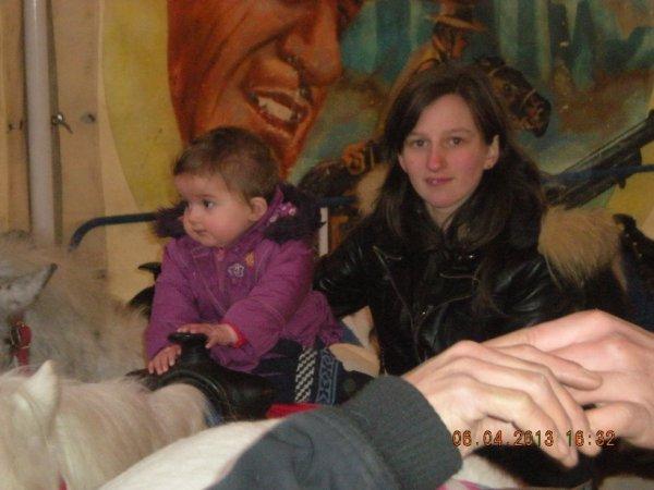 moi et ma fille sur les poney a charleroi