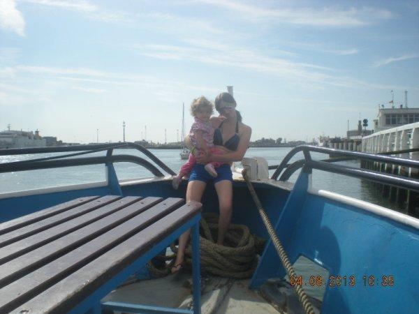 moi et ma puce sur le bateau