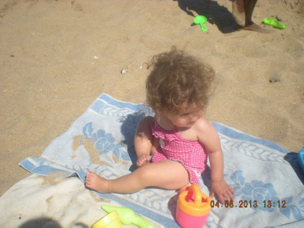ma puce sur la plage