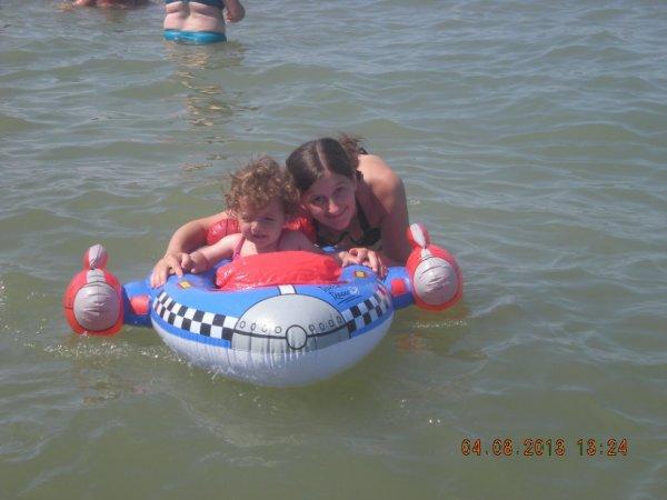 moi et ma fille a la mer