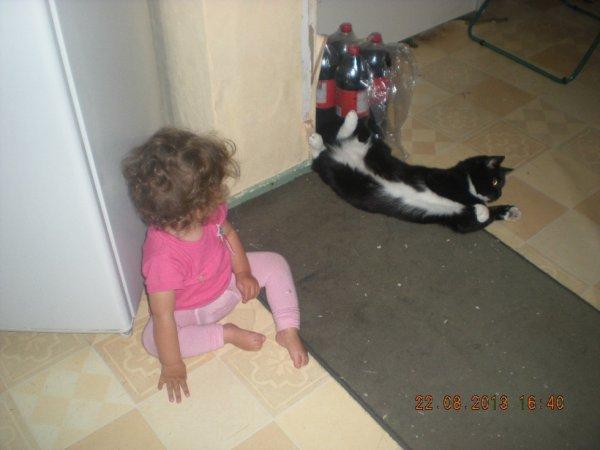 ma puce et le chat