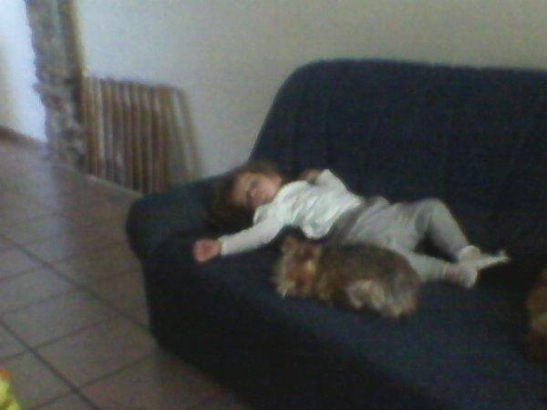ma fille ki dort avec le chien de mon pere