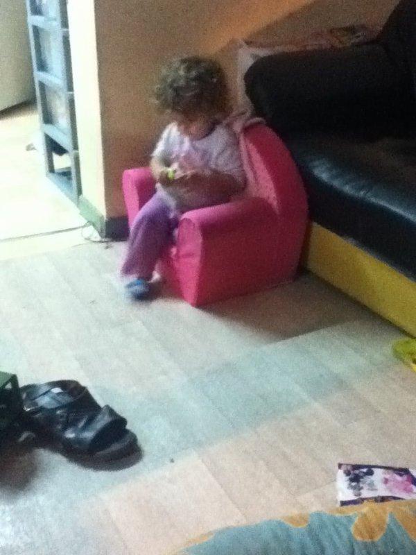 ma puce assise sur son fauteuil