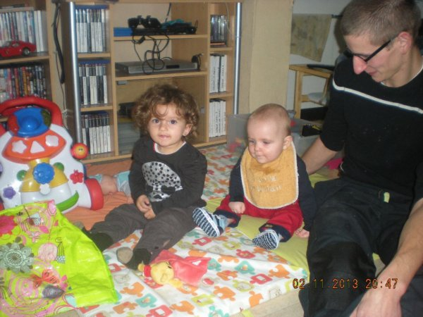 ma fille son cousin jonas et le papa de jonas