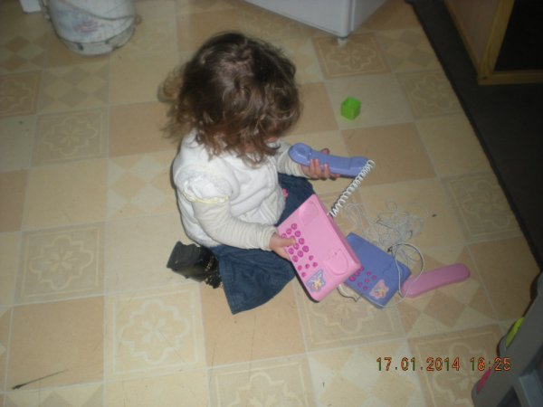 ma fille et son telephone