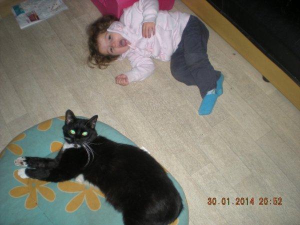 ma puce et mon chat
