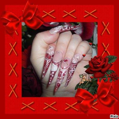 pose pour defi saint valentin,toujours sur le forum resine et gel