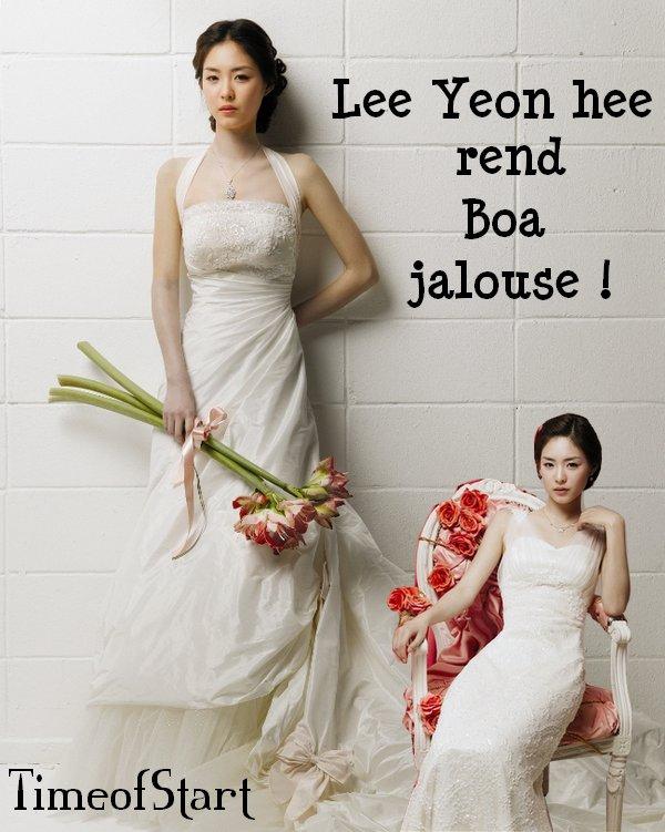 Boa est jalouse du corps parfait de Lee Yeon Hee