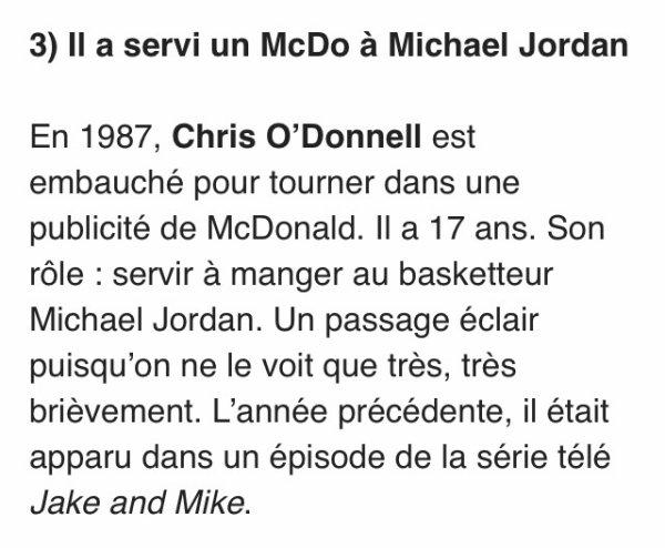 5 choses sur Chris O'Donnell