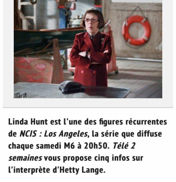 Quelques choses plus ou moins ÉNORME sur Linda Hunt