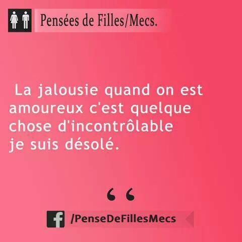 La jalousie...❤