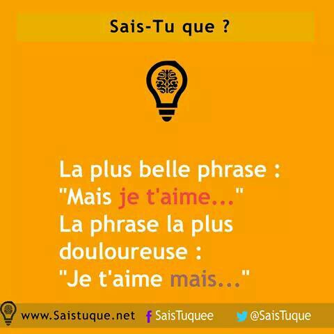 La plus belle phrase VS la pire phrase