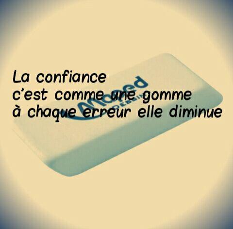 La confiance...❤