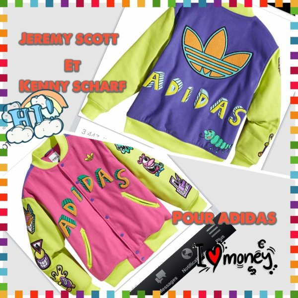 Nvlle collection adidas + jeremy scott