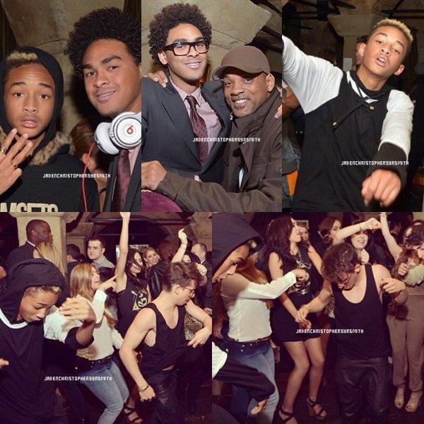. ♦ 19 Février 2013 ~ Jaden Smith était présent au Oscar Week Parties/ Vanity Fair en compagnie de son père,Moises et surement d'autres. Son demi-frère Trey était le DJ de la soirée à Hollywood. .
