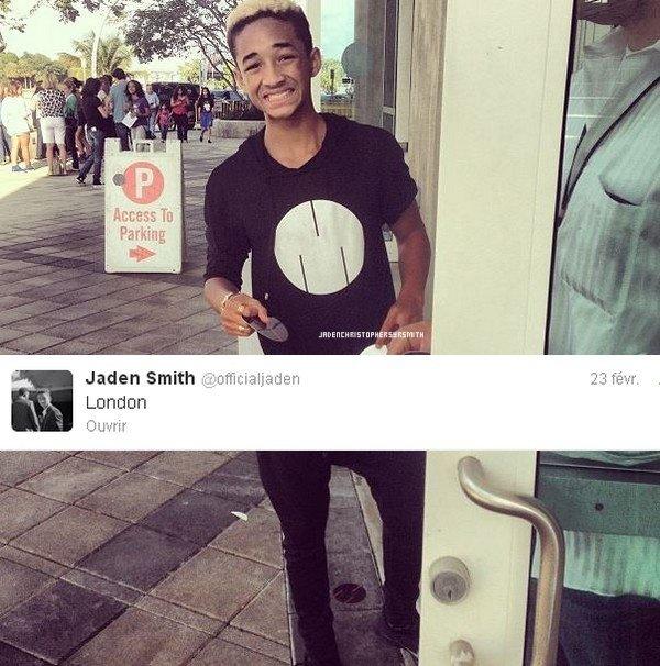 . ♦ 1 Mars 2013 ~ Jaden Smith est actuellement à Londres pour promouvoir sa nouvelle marque msftsrep avec Moises et Mateo Arias. Dans la soirée il était '' au cirque du soir '' en compagnie de Justin Bieber pour fêter son 19ème anniversaire qui aurait mal tournée. .