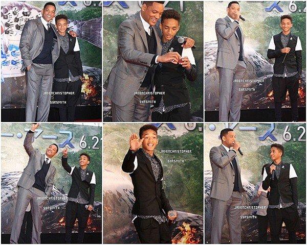 . ♦ 01 Mai 2013 ~ Jaden Smith était en compagnie de son père Will Smith à sa propre avant première pour le film After Earth au Japon. TOP OU FLOP ?   .