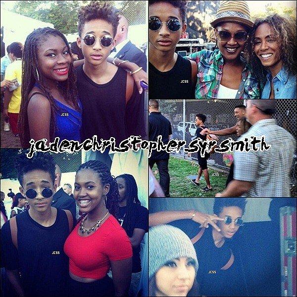 .  24/ 08/ 13 : Jaden Smith ainsi que toute la petite famille étaient présent pour le Afro Punk Festival à New York, pour encouragé Jaden a sa performance. Il a également prit des photos avec ses fans. .