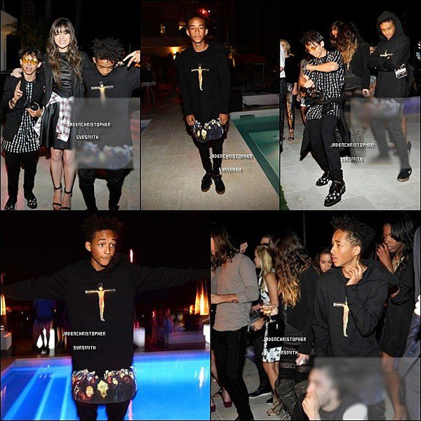 .  27/ 09/ 13 : Jaden ainsi que Moises et Mateo Arias étaient présent lors de la Teen Vogue Young Hollywood Party 2013. D'autres célébrités étaient présent comme Bella Thorne, Olivia Holt... Que pensez-vous de la tenue de Jaden ? Personnellement, j'aime beaucoup cette tenue assez simple..