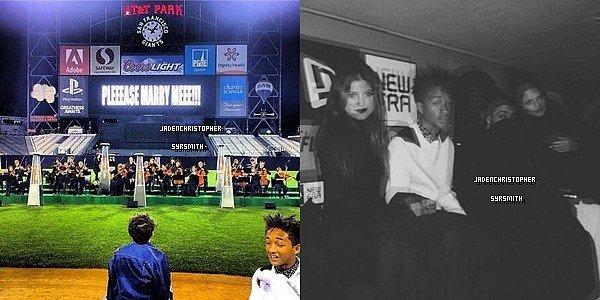 .   21/ 10/ 13 : Jaden Smith à l'occasion de l'anniversaire a Kim Karadshian, a été invités au fiançailles de Kim et Kanye West, étaient également présent Moises,Mateo et Kylie pour cette événement. J'aime beaucoup quand Jaden se met en blanc, ça lui va super bien je trouve ! Vous en pensez quoi ?.